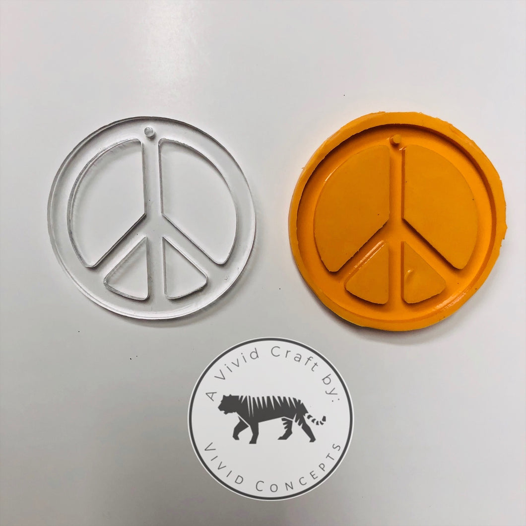 Peace Sign Silicone Mold