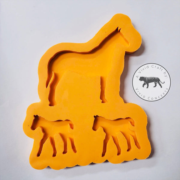 Horse Family Silicone Mold Set