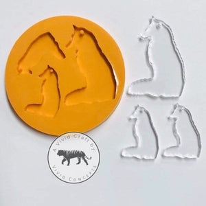 Fox Sitting Silicone Mold
