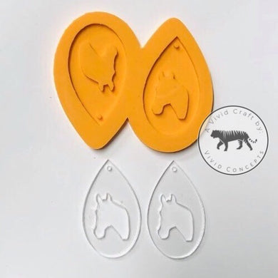 Horse Droplet Earrings Silicone Mold