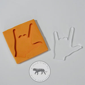 I Love You ASL Silicone Mold