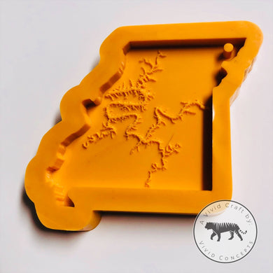 Missouri with Lake of The Ozarks engraved Silicone Mold