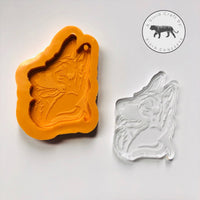 Dog - German Shepard Dog Face Silicone Mold