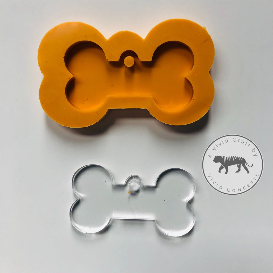 Dog Bone / Tag Silicone Mold