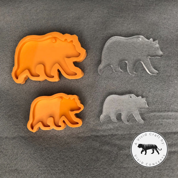 Bear Family Silicone Mold Set