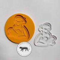 Breast Feeding Mother Twins Silicone Mold