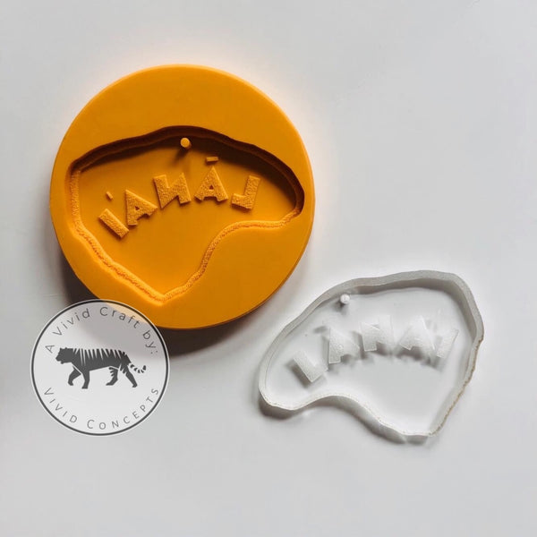 Lanai Island Hawaii Engraved Silicone Mold