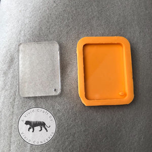 Rectangle with Rounded Corners Silicone Mold