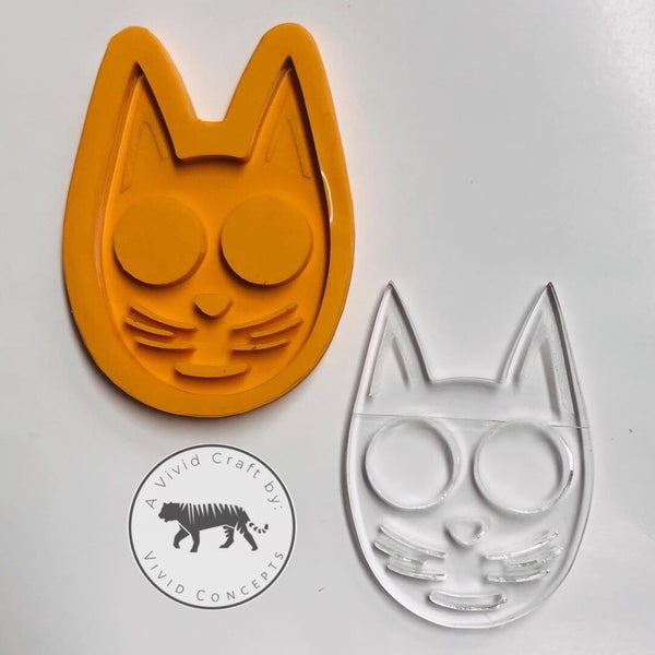 Pointy Eared Cat Face Silicone Mold