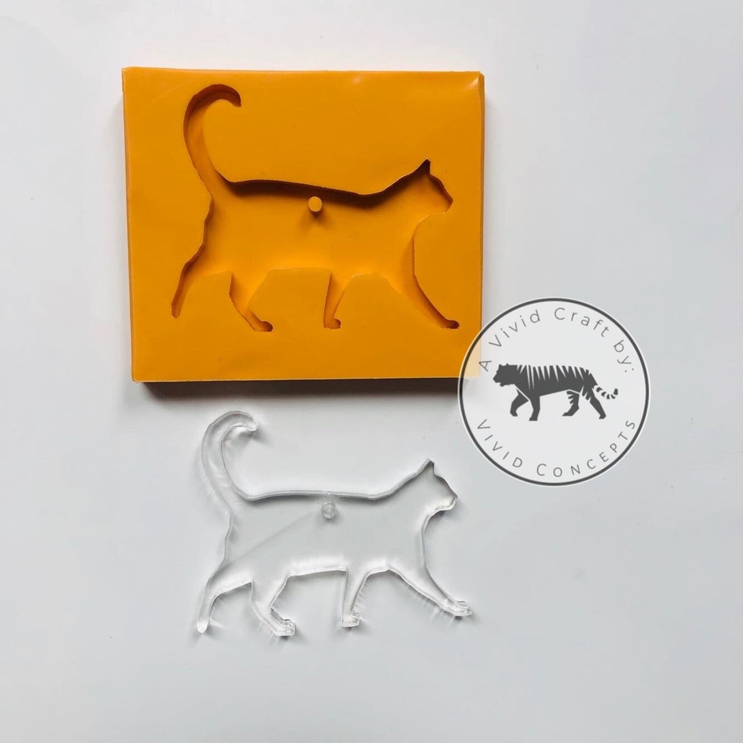 Cat Walking Silicone Mold