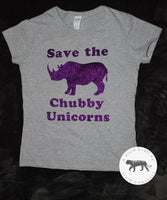 Save the Chubby Unicorns Tshirt