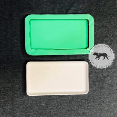 "Small Tray Silicone Mold (3.5""x6.5"" shallow square)"