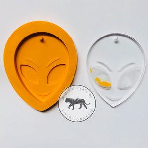 Alien Face 3D Silicone Mold