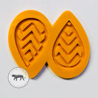 Chevron Pattern Droplet Earrings Silicone Mold