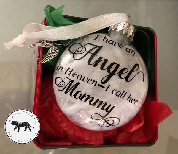 Memorial ornament - Custom - Two Sided