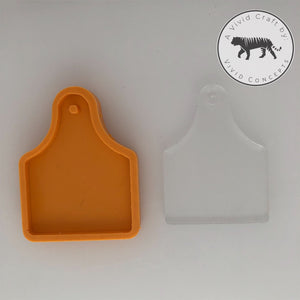 Cow Ear Tag Silicone Mold