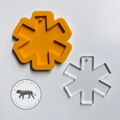 Star of Life / Medical Cross / EMT Silicone Mold