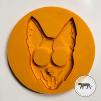 Pointy Eared Blue Healer Face Silicone Mold