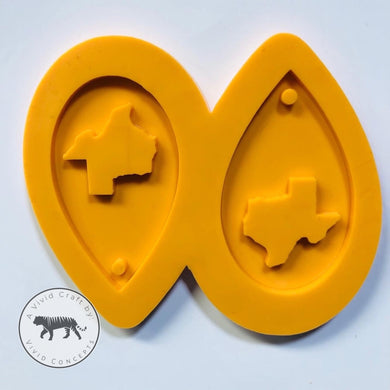 Texas Droplet Earrings Silicone Mold