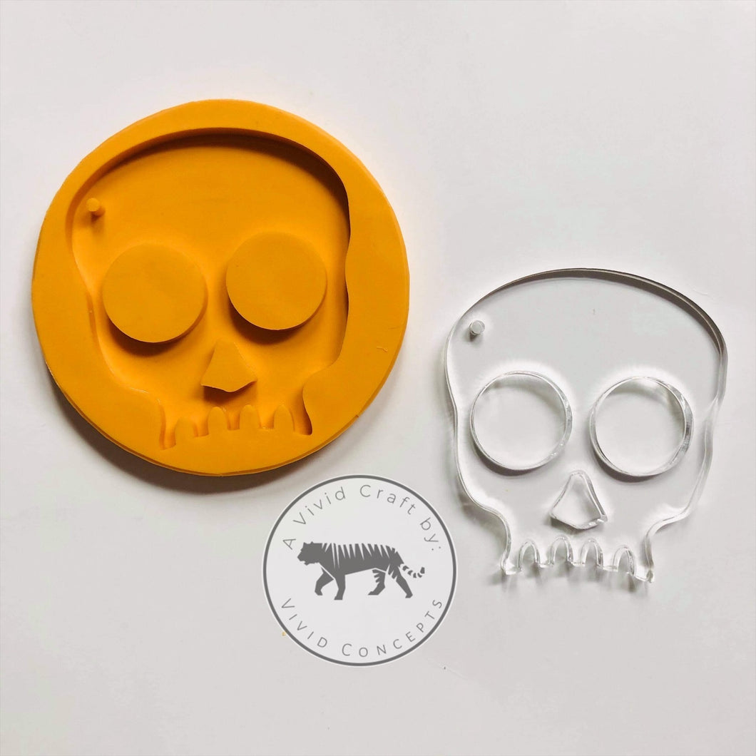 Jagged Tooth Skull Silicone Mold