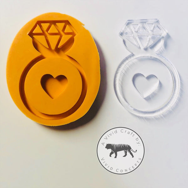 Diamond Engagement Ring Silicone Mold