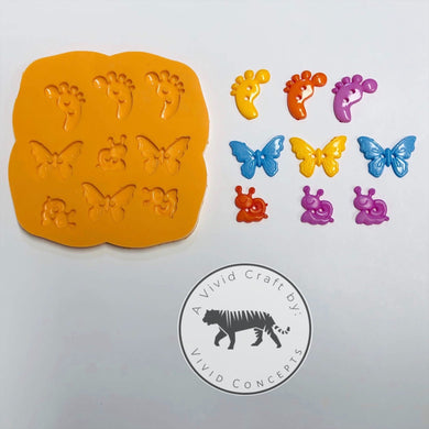 Sewing Buttons (Children's silly set) Silicone Mold