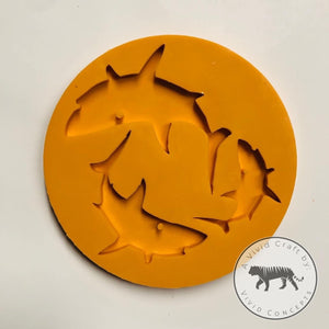 Shark Family Silicone Mold Set