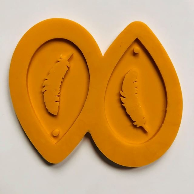Feather Droplet Earrings Silicone Mold