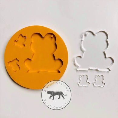 Frog Family Silicone Mold Set