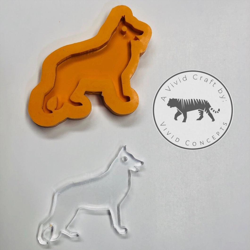 Dog - German Shepard Dog Silicone Mold