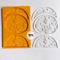 Moon Hanging (Engraved) Silicone Mold