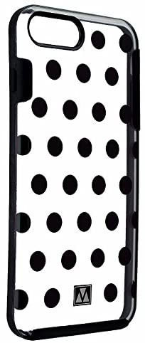 M-Edge Glimpse Series Protective Case for iPhone 8 Plus/7 Plus - Black Polka Dots