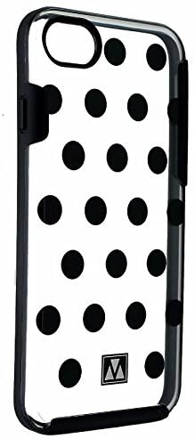 M-Edge Glimpse Series Protective Cas for iPhone 8/7 - Blacks Polka Dots