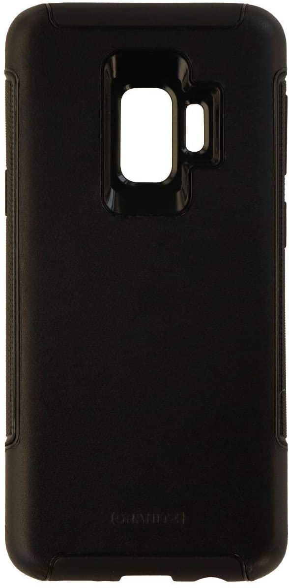 Granite Hybrid Genuine Leather Case Cover for Samsung Galaxy S9 - Black