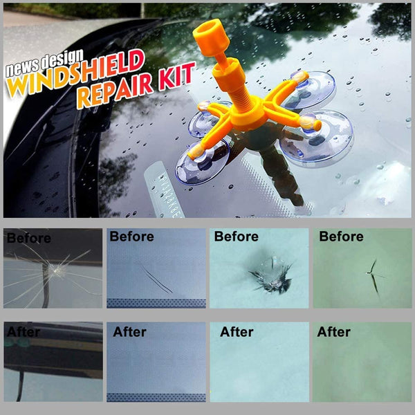 Adduns Do It Yourself Windshield Repair Kit for Chips, Cracks, Bull's-Eyes and Stars