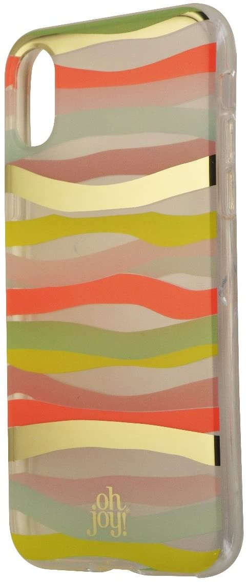 Oh Joy Wave Snap On Protective Case Cover for iPhone X - Multi Color
