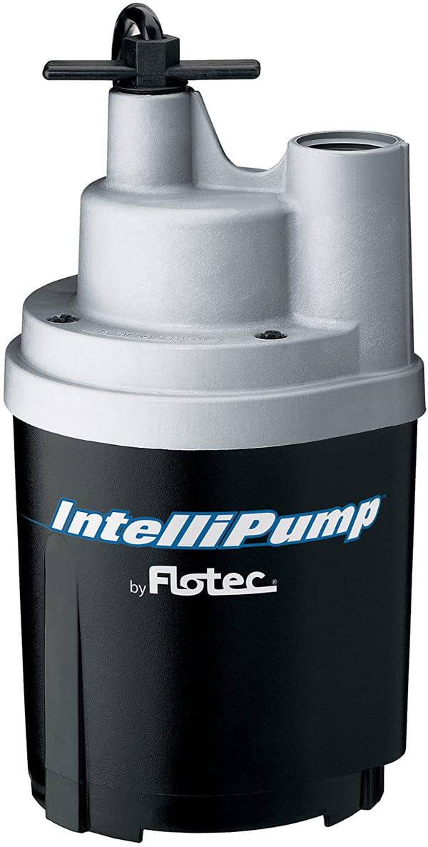 Flotec FPOS1775A IntelliPump Water Removal Utility Pump, 1790 GPH, 1/4 Hp, 115 Vac, 60 Hz, 15 Ft