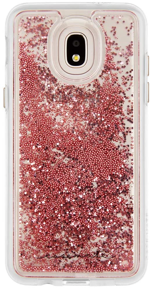 Case Mate Waterfall Case for Samsung Galaxy J3 V 3rd Gen - Clear/Rose Pink