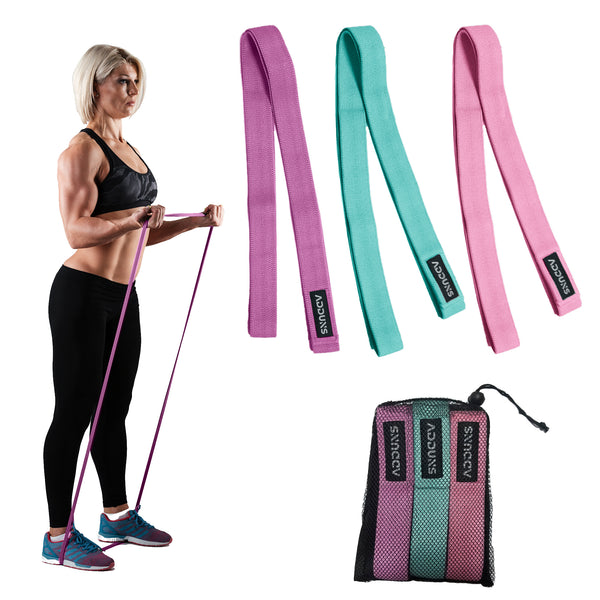 Adduns Long Resistance Bands for Working Out, Pull Up Bands, Fabric, Set of 3