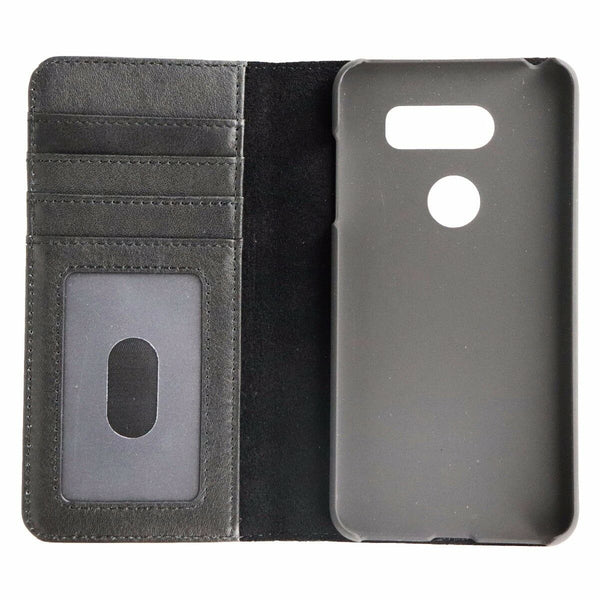 Case Mate Wallet Folio Handcrafted Leather Impact Protective Case for LG V30 - Black
