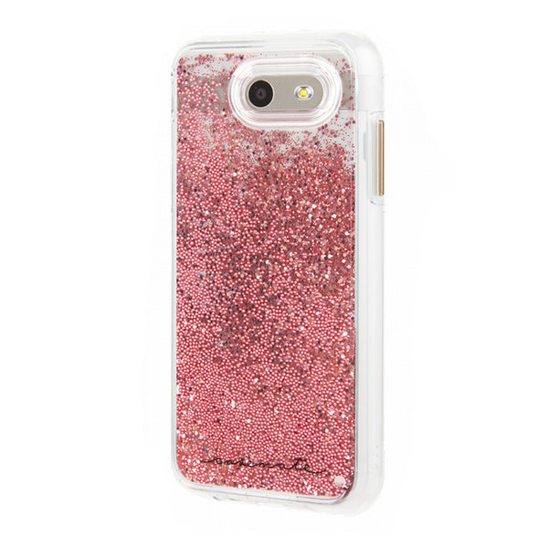 Case-Mate Naked Tough Waterfall Case for Samsung J3 Eclipse/Mission - Clear/Pink Glitter