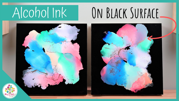Using Alcohol Inks on Black Art Boards