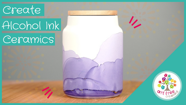 How to create: Alcohol Ink Ceramics