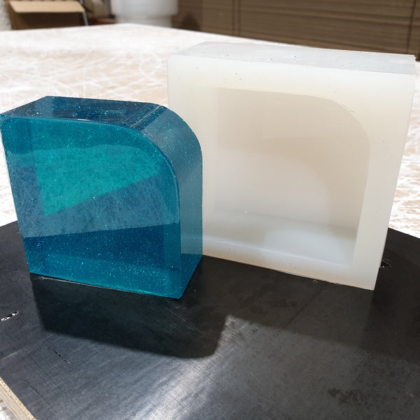 silicone mould bookend/ paperweight