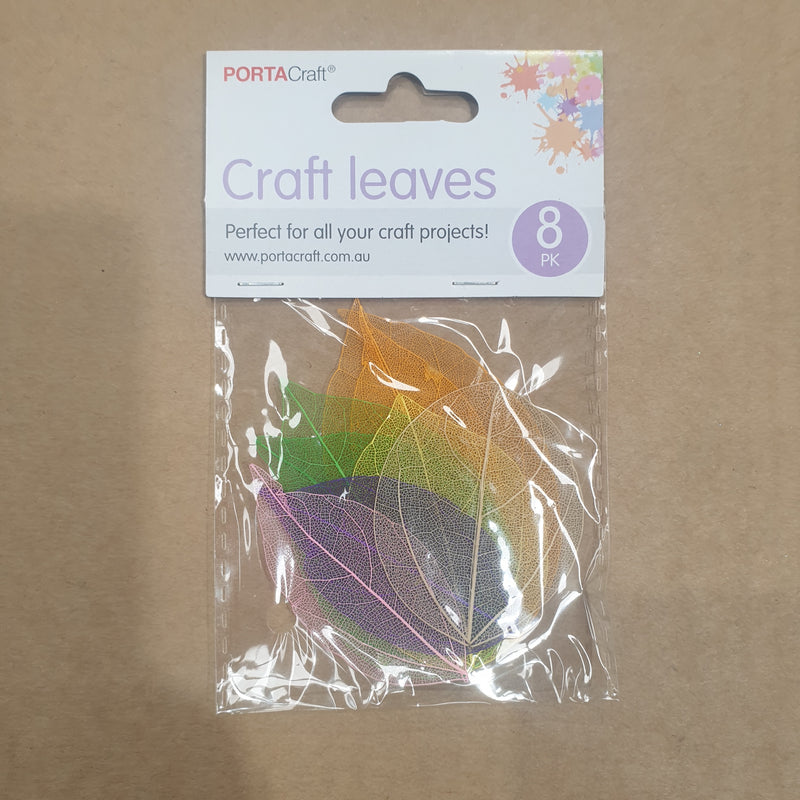 Coloured Craft Leaves 8pk