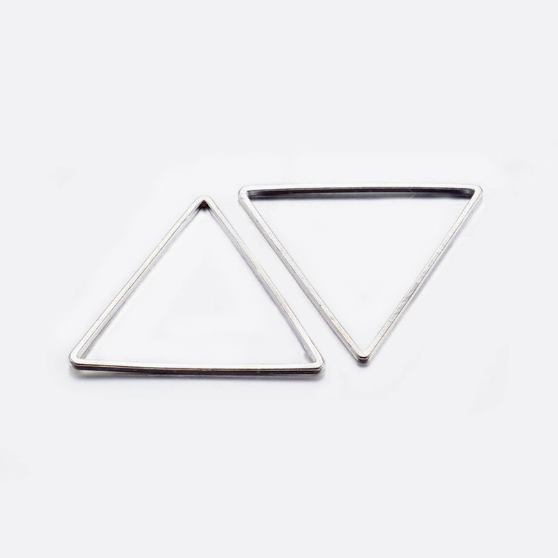 Linking Rings Triangle Silver 6pce