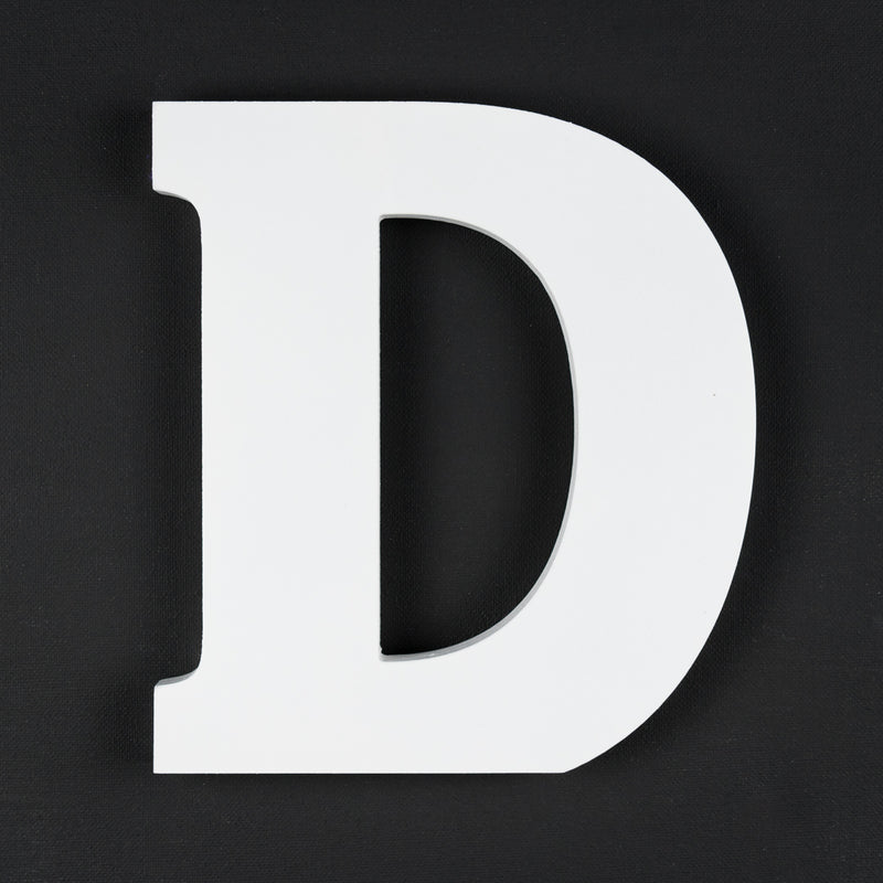D timber letter