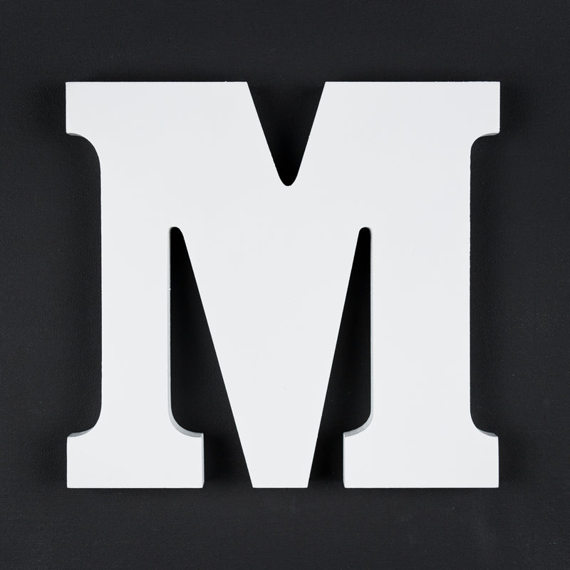 M timber letter