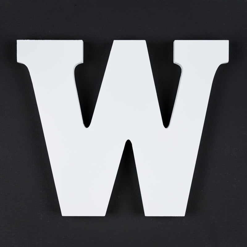 W timber letter