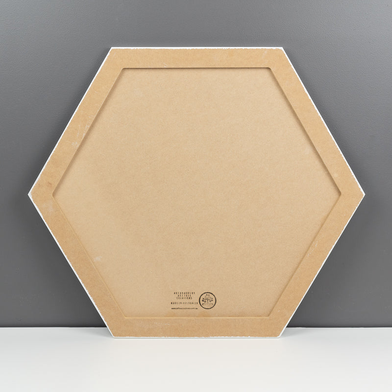 Primed Hexagon art boards all sizes